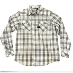 Rocawear Mens Plaid Shirt Large